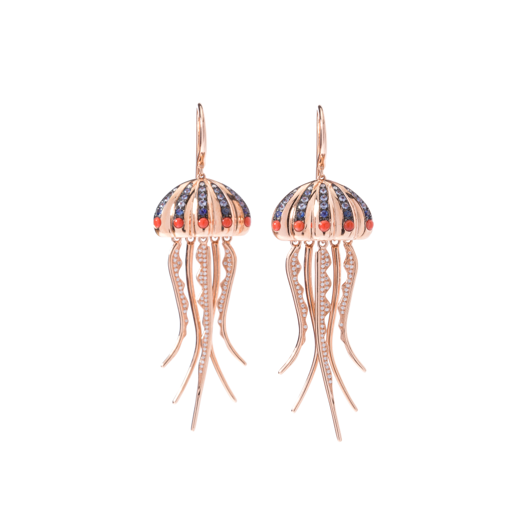 Marianna Marolla, Earrings, Cosmos, Peseli Aquatic Collection