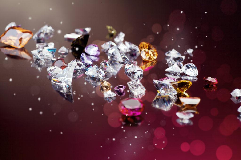 diamanti e perle pietre preziose